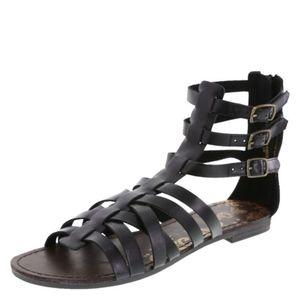 Brash Black Gladiator Sandals